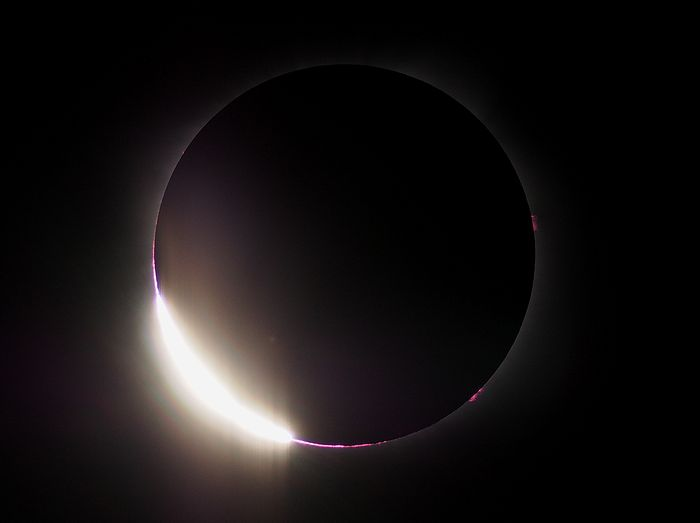 2017年8月21日 皆既日食 ダイヤモンドリング アメリカ アイダホ