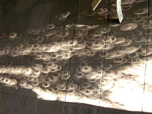 リング状になった金環中の木漏れ日(2010年1月15日、ミャンマー・マンダレーにて弊社撮影)
