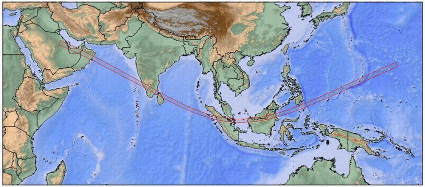金環日食帯マップ